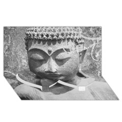Buddha Twin Heart Bottom 3d Greeting Card (8x4)