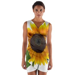 Sunflower Overload Wrap Front Bodycon Dress