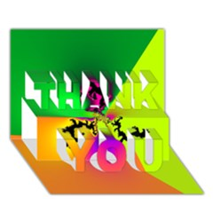 Creation Of Color Thank You 3d Greeting Card (7x5)  by TRENDYcouture