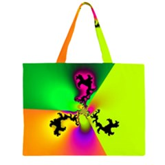 Creation Of Color Zipper Large Tote Bag by TRENDYcouture