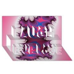 Liquid Roses Laugh Live Love 3d Greeting Card (8x4)