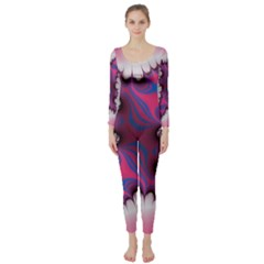 Liquid Roses Long Sleeve Catsuit by TRENDYcouture