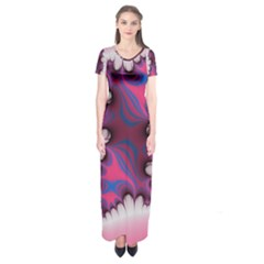 Liquid Roses Short Sleeve Maxi Dress by TRENDYcouture