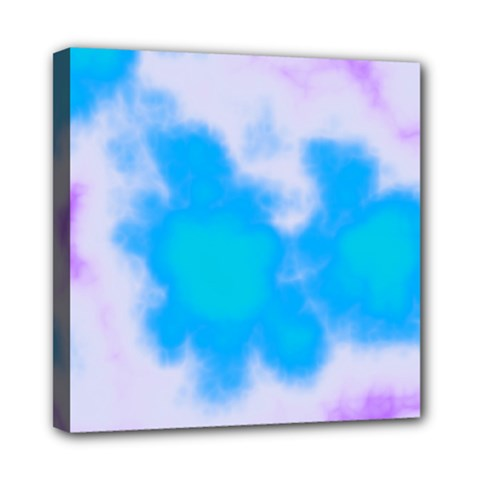 Blue And Purple Clouds Mini Canvas 8  X 8  by TRENDYcouture