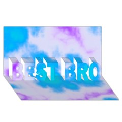 Blue And Purple Clouds Best Bro 3d Greeting Card (8x4)  by TRENDYcouture