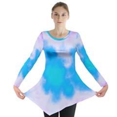 Blue And Purple Clouds Long Sleeve Tunic  by TRENDYcouture