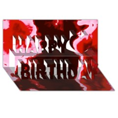 crimson sky Happy Birthday 3D Greeting Card (8x4)