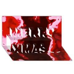 crimson sky Merry Xmas 3D Greeting Card (8x4)