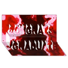 Crimson Sky Congrats Graduate 3d Greeting Card (8x4)  by TRENDYcouture