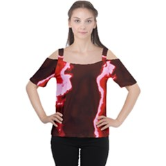 Crimson Sky Women s Cutout Shoulder Tee by TRENDYcouture