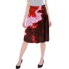 crimson sky Midi Beach Skirt