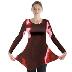 Crimson Sky Long Sleeve Tunic  by TRENDYcouture