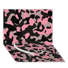 Kitty Camo Heart Bottom 3d Greeting Card (7x5)