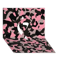 Kitty Camo Ribbon 3d Greeting Card (7x5)