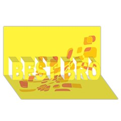 Yellow Abstraction Best Bro 3d Greeting Card (8x4)  by Valentinaart