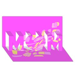 Pink Abstraction Mom 3d Greeting Card (8x4)  by Valentinaart