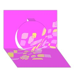 Pink Abstraction Circle 3d Greeting Card (7x5)
