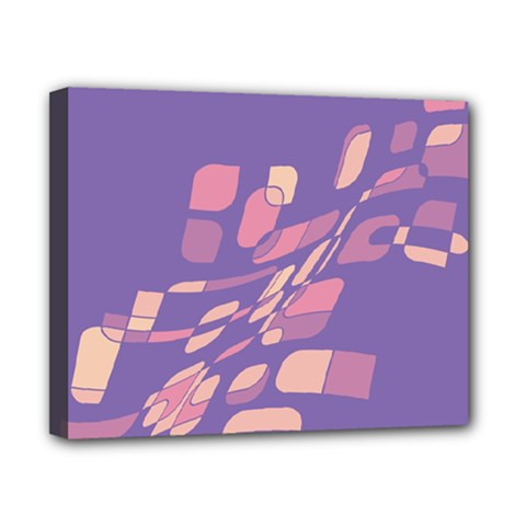 Purple Abstraction Canvas 10  X 8  by Valentinaart
