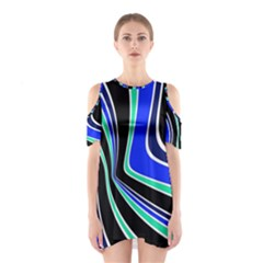 Colors Of 70 s Cutout Shoulder Dress