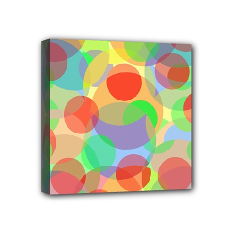 Colorful Circles Mini Canvas 4  X 4  by Valentinaart