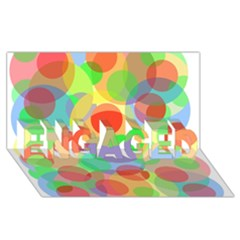 Colorful Circles Engaged 3d Greeting Card (8x4)  by Valentinaart