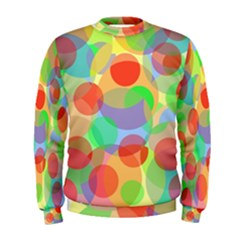 Colorful Circles Men s Sweatshirt by Valentinaart