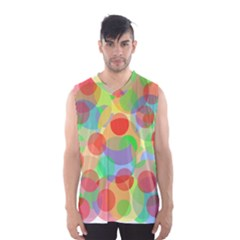 Colorful circles Men s Basketball Tank Top by Valentinaart