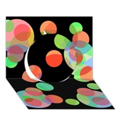 Colorful Circles Circle 3d Greeting Card (7x5)