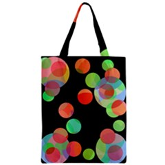 Colorful Circles Zipper Classic Tote Bag by Valentinaart