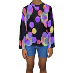 Colorful Decorative Circles Kid s Long Sleeve Swimwear by Valentinaart