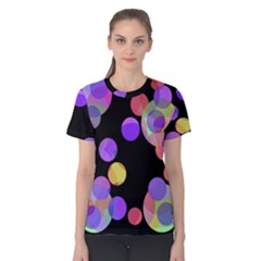 Colorful Decorative Circles Women s Cotton Tee by Valentinaart