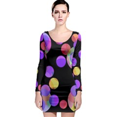 Colorful decorative circles Long Sleeve Bodycon Dress