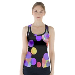 Colorful decorative circles Racer Back Sports Top by Valentinaart