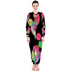 Colorful Decorative Circles Onepiece Jumpsuit (ladies)  by Valentinaart