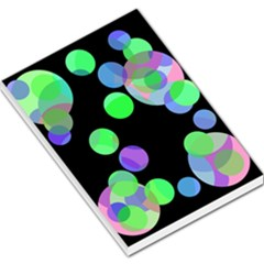 Green Decorative Circles Large Memo Pads