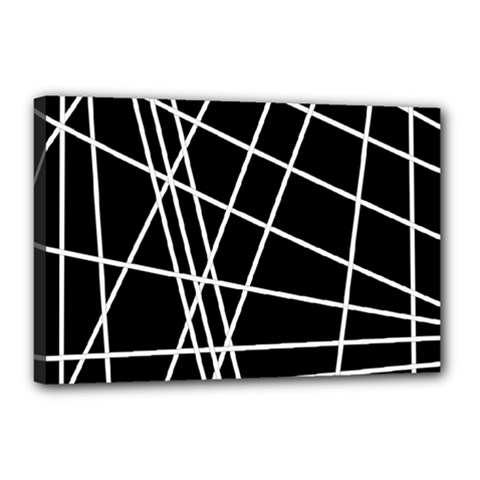 Black And White Simple Design Canvas 18  X 12  by Valentinaart