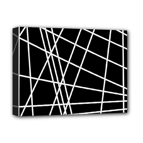 Black And White Simple Design Deluxe Canvas 16  X 12   by Valentinaart