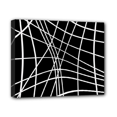 Black And White Elegant Lines Canvas 10  X 8  by Valentinaart