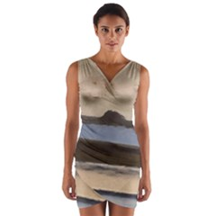 Bamburgh Paint Wrap Front Bodycon Dress