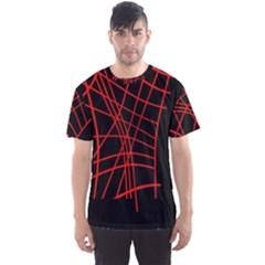 Neon Red Abstraction Men s Sport Mesh Tee by Valentinaart