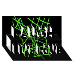 Green Neon Abstraction Laugh Live Love 3d Greeting Card (8x4)