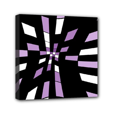 Purple Abstraction Mini Canvas 6  X 6  by Valentinaart