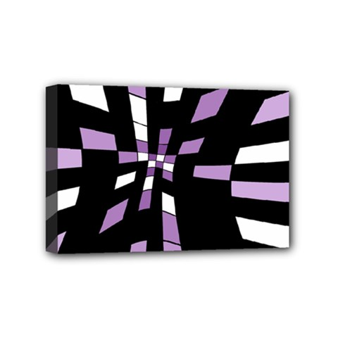 Purple Abstraction Mini Canvas 6  X 4  by Valentinaart