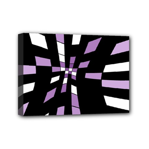 Purple Abstraction Mini Canvas 7  X 5  by Valentinaart