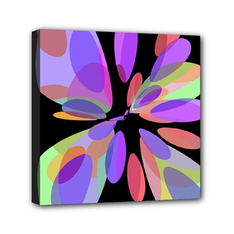 Colorful Abstract Flower Mini Canvas 6  X 6  by Valentinaart
