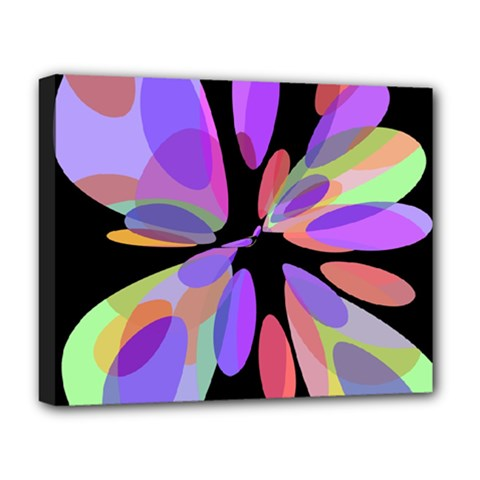 Colorful Abstract Flower Deluxe Canvas 20  X 16   by Valentinaart