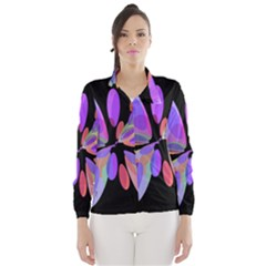 Colorful abstract flower Wind Breaker (Women) by Valentinaart