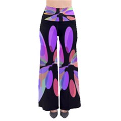 Colorful Abstract Flower Pants by Valentinaart