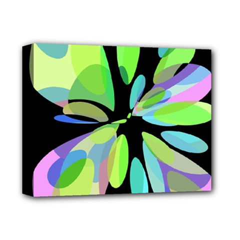 Green Abstract Flower Deluxe Canvas 14  X 11  by Valentinaart