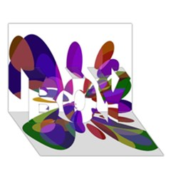 Colorful Abstract Flower Boy 3d Greeting Card (7x5)